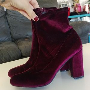 Shoes - Velvet Boots